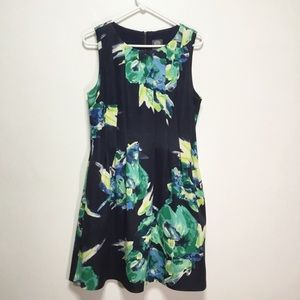 Vince Camuto Sleeveless Floral Dress